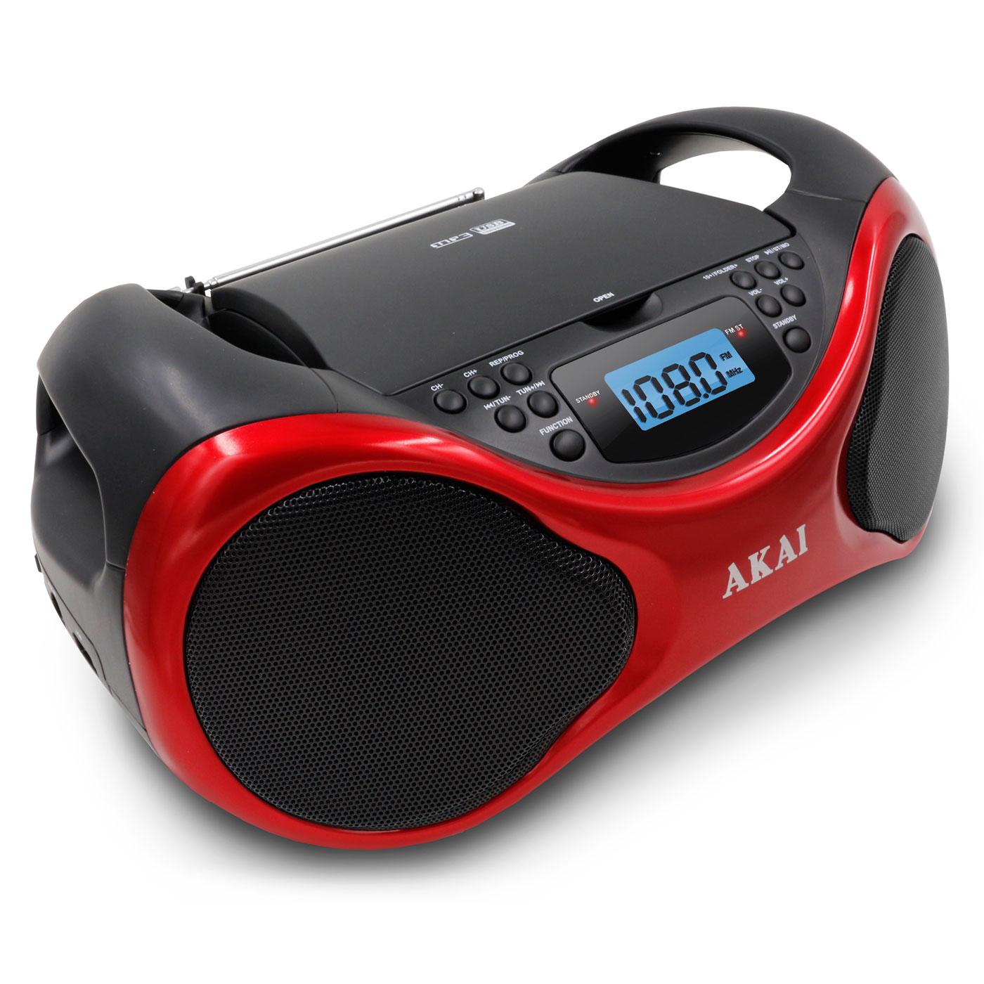 Radio & radio réveil Akai AB-40R Scorpio Boombox  Radio CD MP3 USB avec entrée auxiliaire