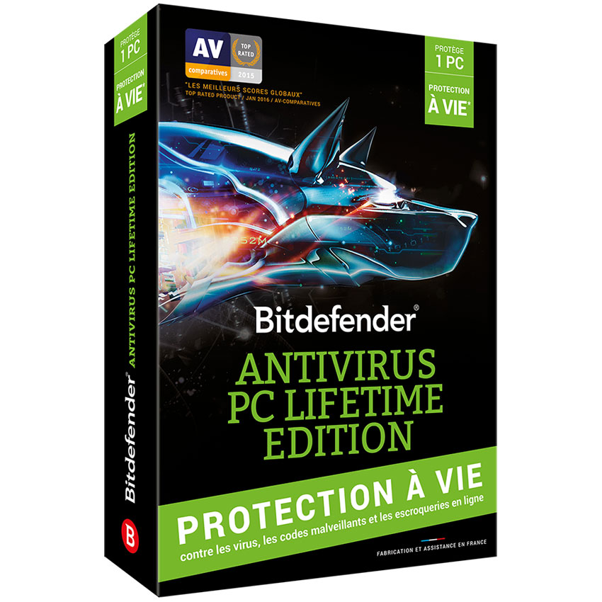 bitdefender antivirus pc lifetime edition licence vie 1 poste logiciel antivirus. Black Bedroom Furniture Sets. Home Design Ideas