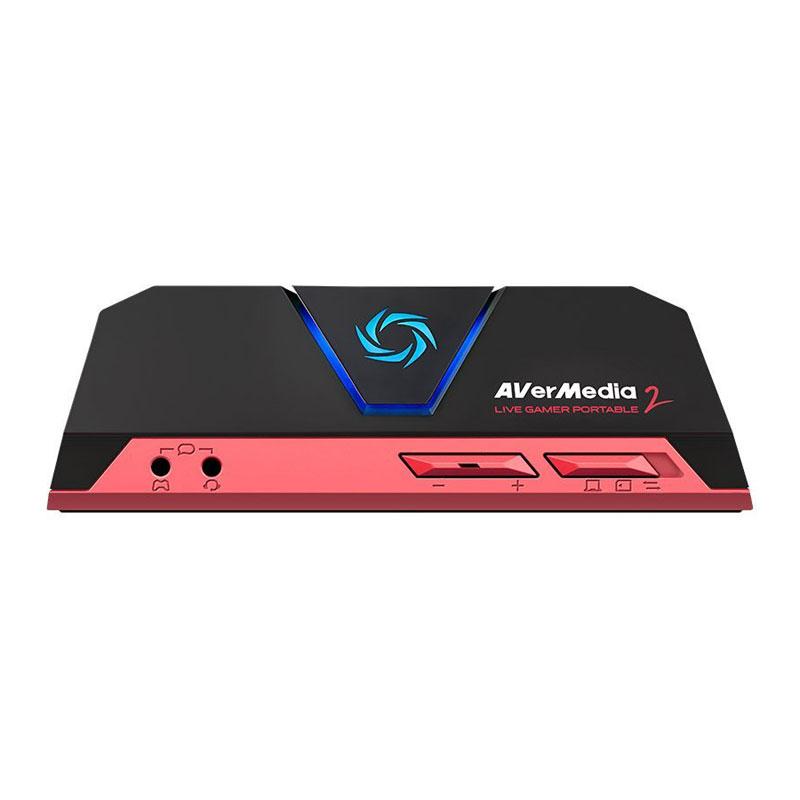 Carte d'acquisition AVerMedia Live Gamer Portable 2 Boîtier d'enregistrement et de diffusion en streaming portable HD 1080p60 pour PC et consoles de jeux
