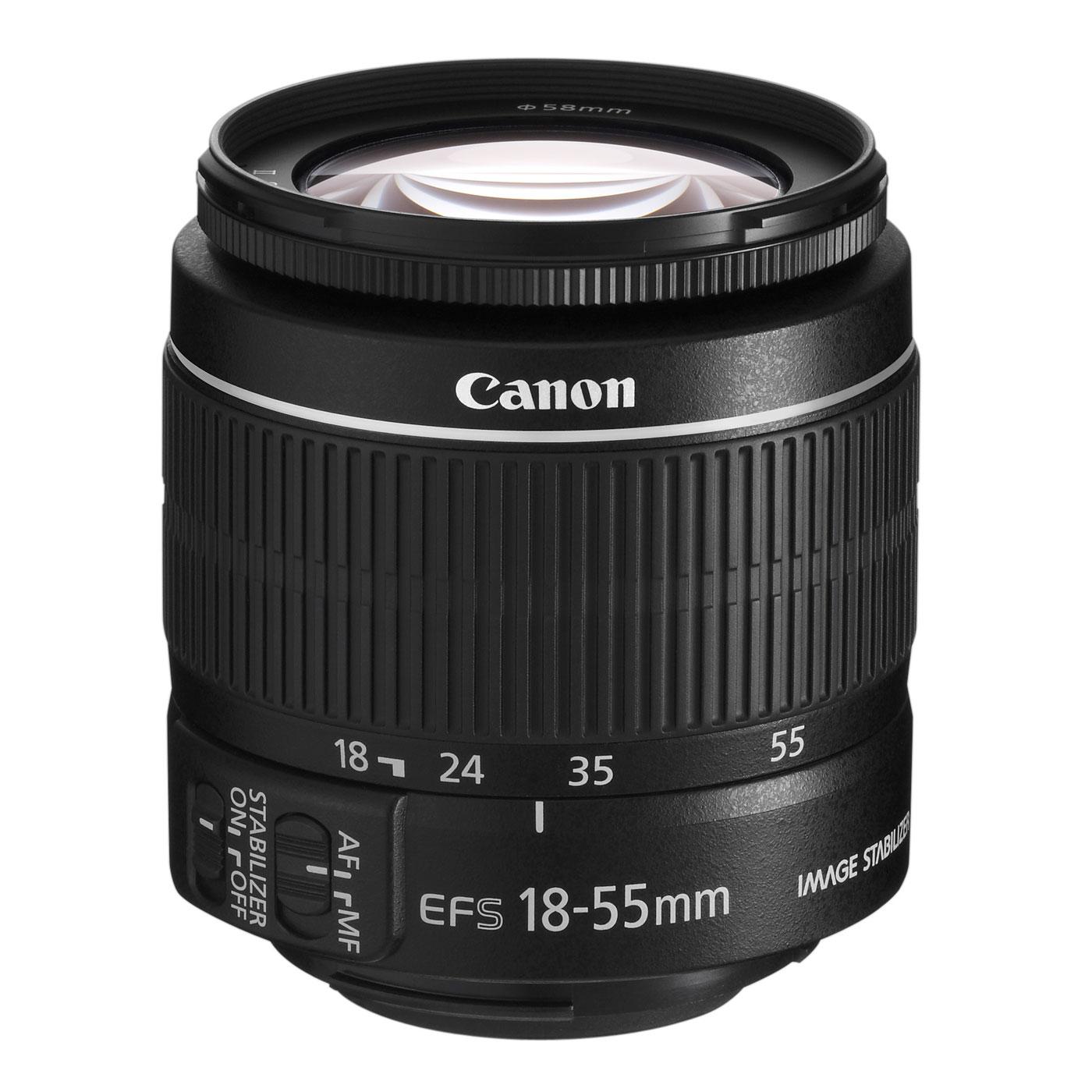 Objectif appareil photo Canon EF-S 18-55mm f/3.5-5.6 IS II Zoom standard stabilisé