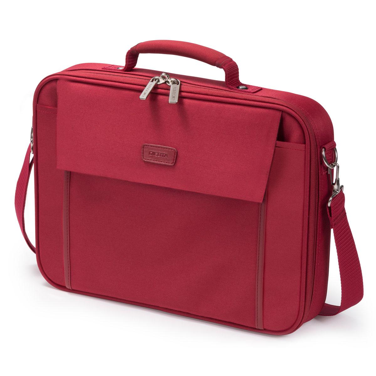 """Sac, sacoche, housse Dicota Multi Base 15-17.3"""" (rouge) Sacoche pour ordinateur portable (jusqu'à 17.3"""")"""
