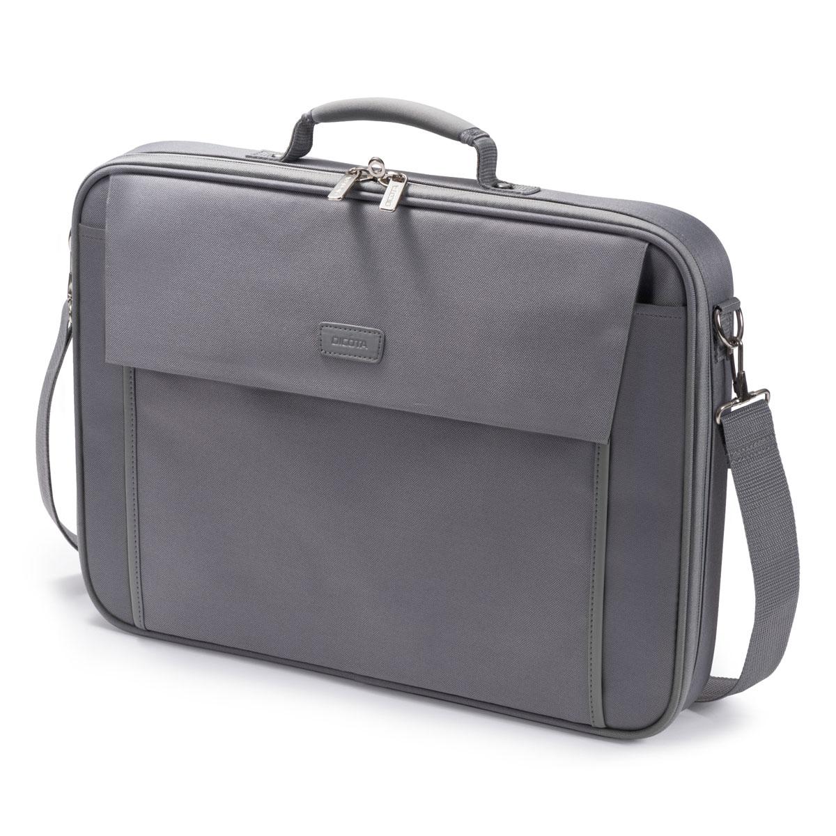"""Sac, sacoche, housse Dicota Multi Base 15-17.3"""" (gris)  Sacoche pour ordinateur portable (jusqu'à 17.3"""")"""