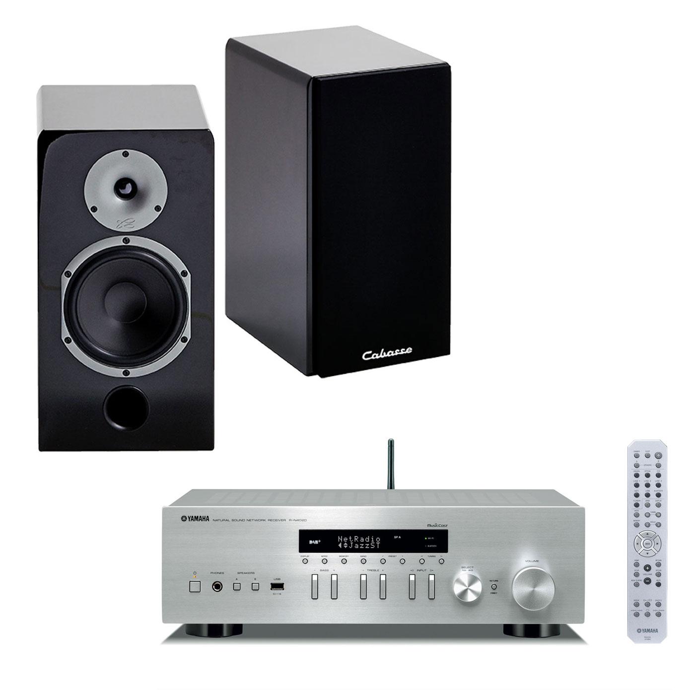 yamaha musiccast r n402d argent cabasse antigua mt32. Black Bedroom Furniture Sets. Home Design Ideas
