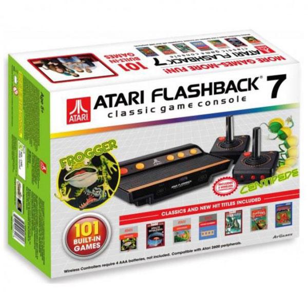 Petites consoles Atari Flashback 7 Console de salon Atari + 2 manettes sans fil + 101 jeux