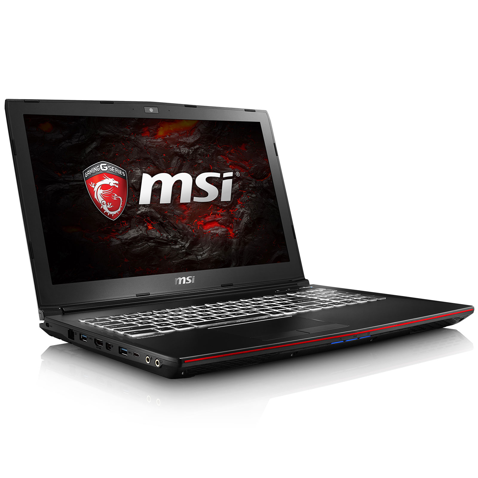 "PC portable MSI GP62 6QF-1478FR Intel Core i7-6700HQ 8 Go SSD 128 Go + HDD 1 To 15.6"" LED Full HD NVIDIA GeForce GTX 960M 2 Go Graveur DVD Wi-Fi AC/Bluetooth Webcam Windows 10 Famille 64 bits (garantie constructeur 2 ans)"