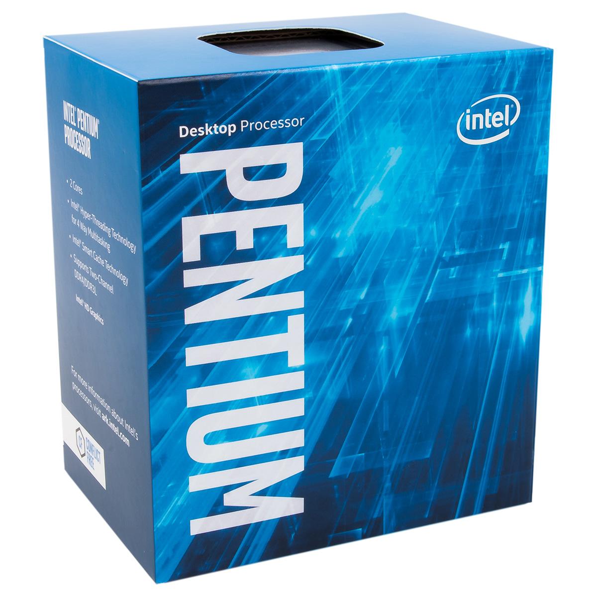 Processeur Intel Pentium G4560 (3.5 GHz) Processeur Dual Core Socket 1151 Cache L3 3 Mo Intel HD Graphics 610 0.014 micron (version boîte - garantie Intel 3 ans)