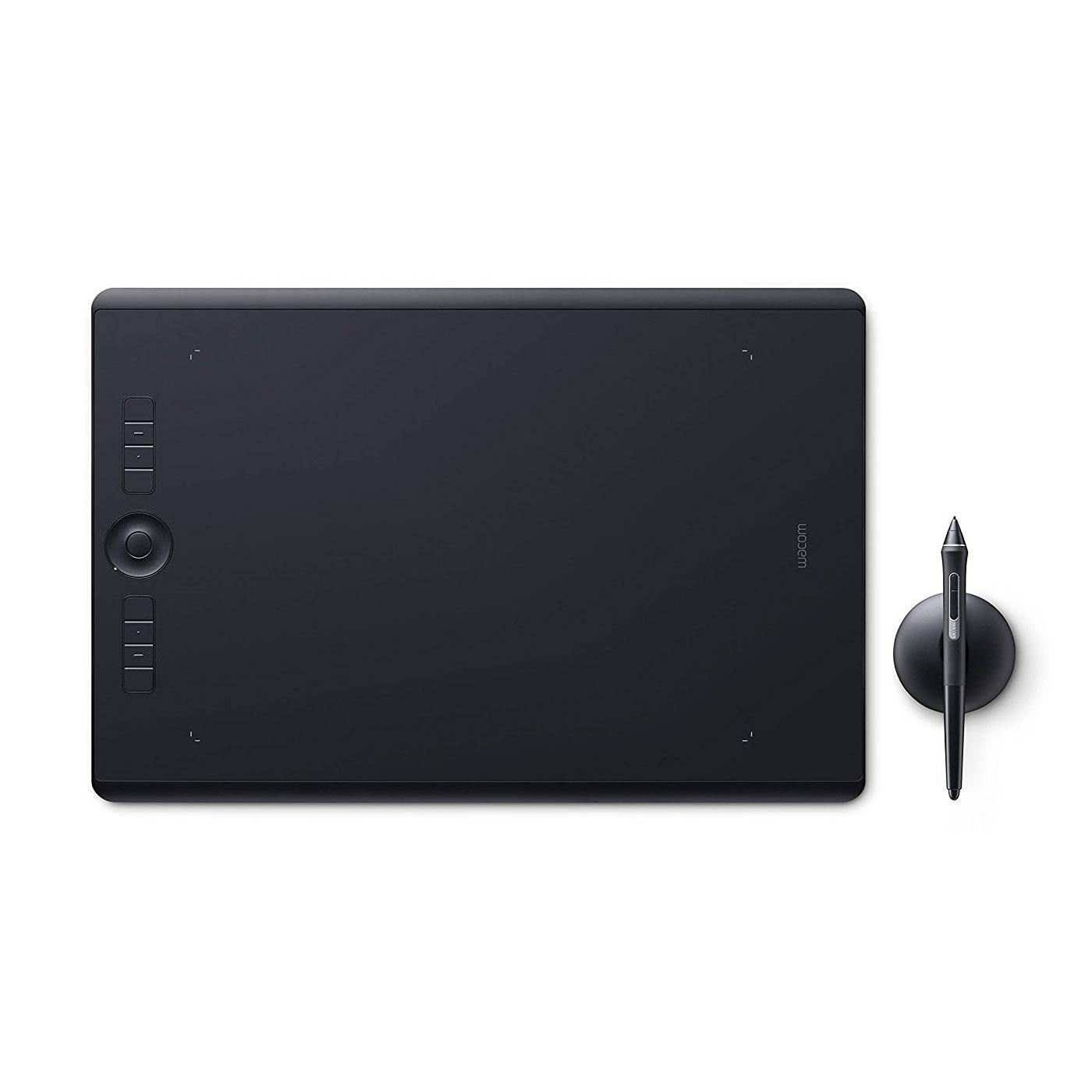 Tablette graphique Wacom Intuos Pro Large (PTH-860-S) Tablette graphique professionnelle multi-touch, avec stylet Pro Pen 2 et repose-stylet (PC / Mac)