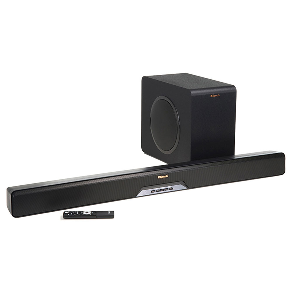 Barre de son Klipsch RSB-14 Barre de son 2.1 Bluetooth, HDMI, multiroom Wi-Fi DTS Play-Fi avec caisson de basses sans fil