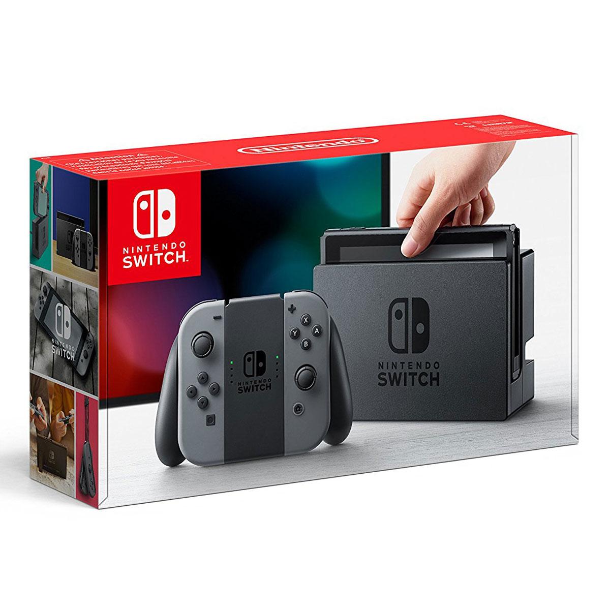 Pack console de jeux Nintendo Switch + Joy-Con droit et gauche (Gris) Console de jeux-vidéo nouvelle génération avec capacité 32 Go + Manette