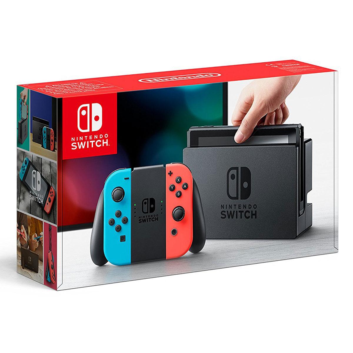 Pack console de jeux Nintendo Switch + Joy-Con droit (Rouge) et gauche (Bleu) Console de jeux-vidéo nouvelle génération avec capacité 32 Go + Manette