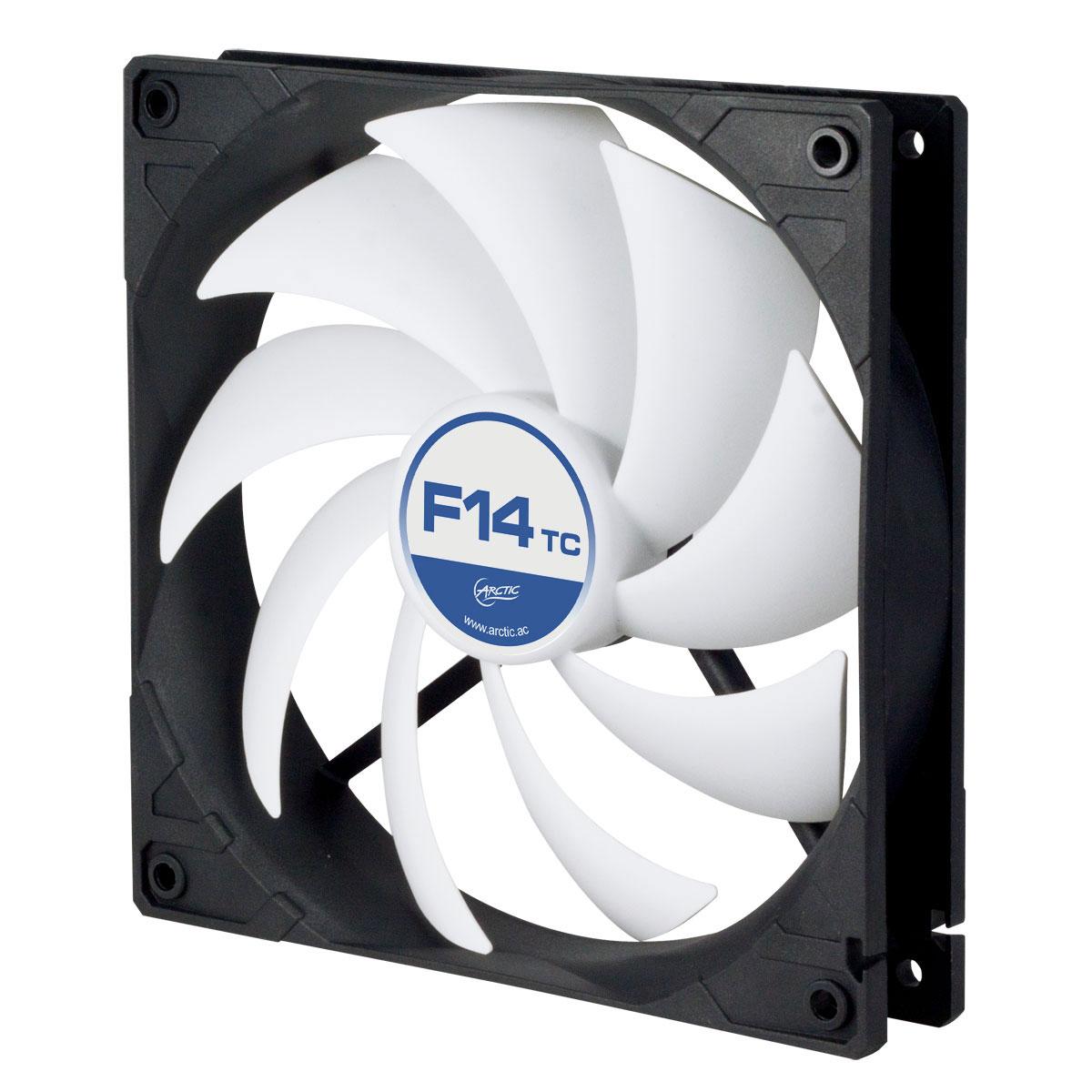 Ventilateur boîtier Arctic F14 TC Ventilateur de boîtier 140 mm haute performance avec température contrôlée