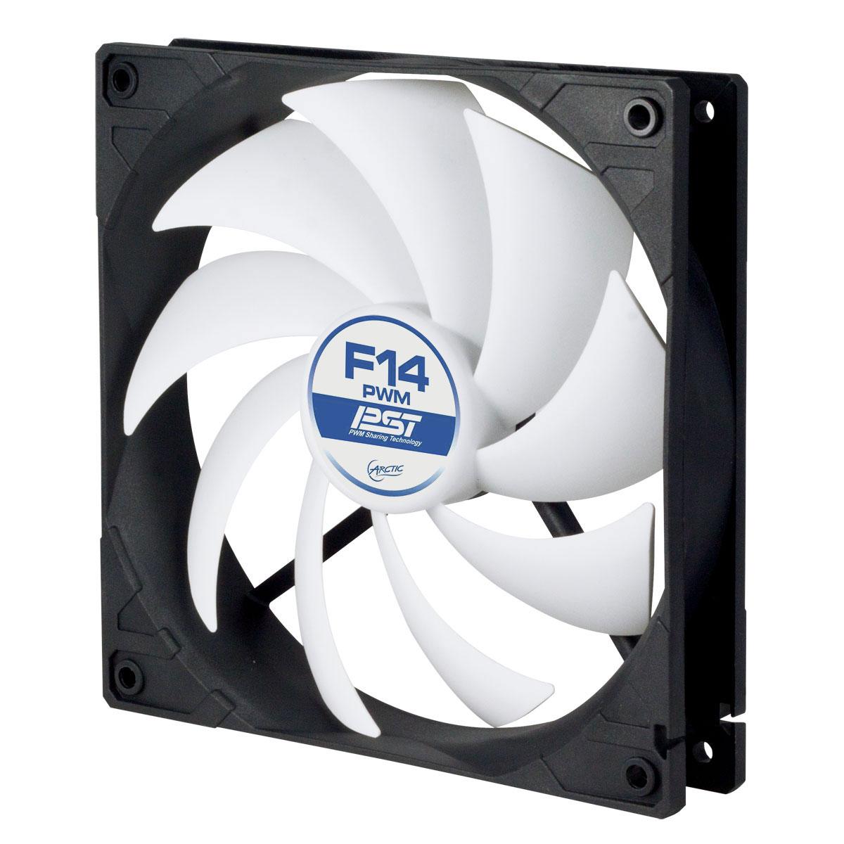 Ventilateur boîtier Arctic F14 PWM PST Ventilateur de boîtier 140 mm thermorégulé avec système PST