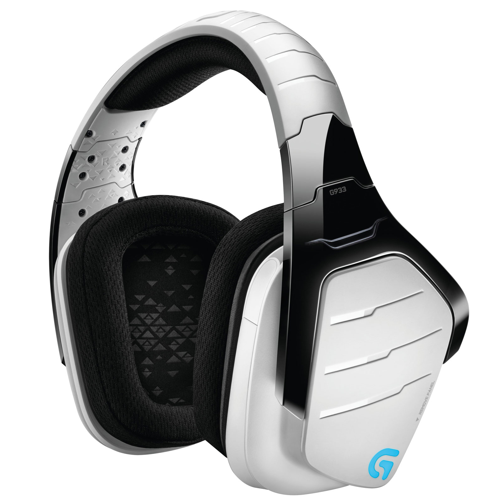 Micro-casque Logitech G933 Artemis Spectrum RGB Wireless 7.1 Surround Gaming Headset (Blanc) Casque-micro 7.1 sans fil pour gamer (compatible PC/ PlayStation 4/ Xbox One)