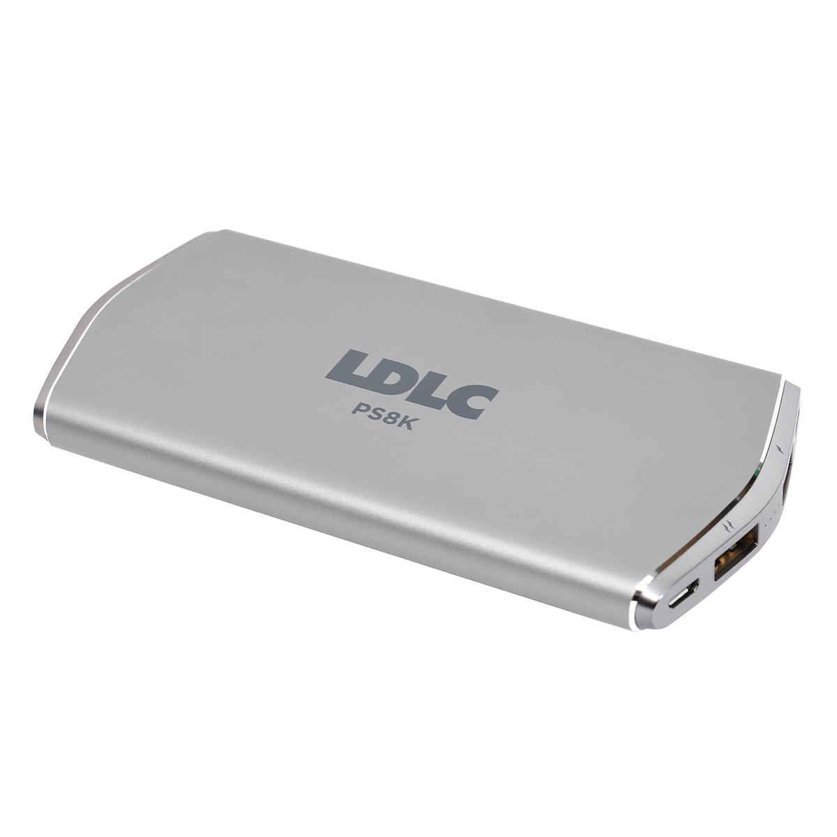Batterie téléphone LDLC Power Bank PS8K Batterie externe Lithium-Polymère 8000 mAh