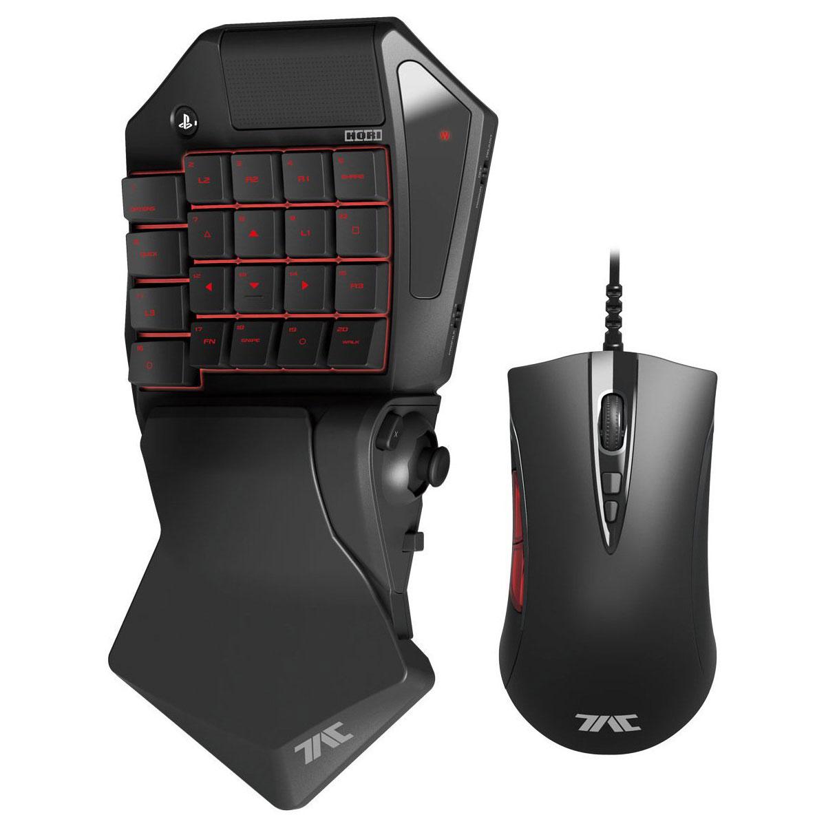 Accessoires PS4 Hori Tactical Assault Commander Pro (PS3/PS4) Pad programmable + souris optique pour PS3 et PS4