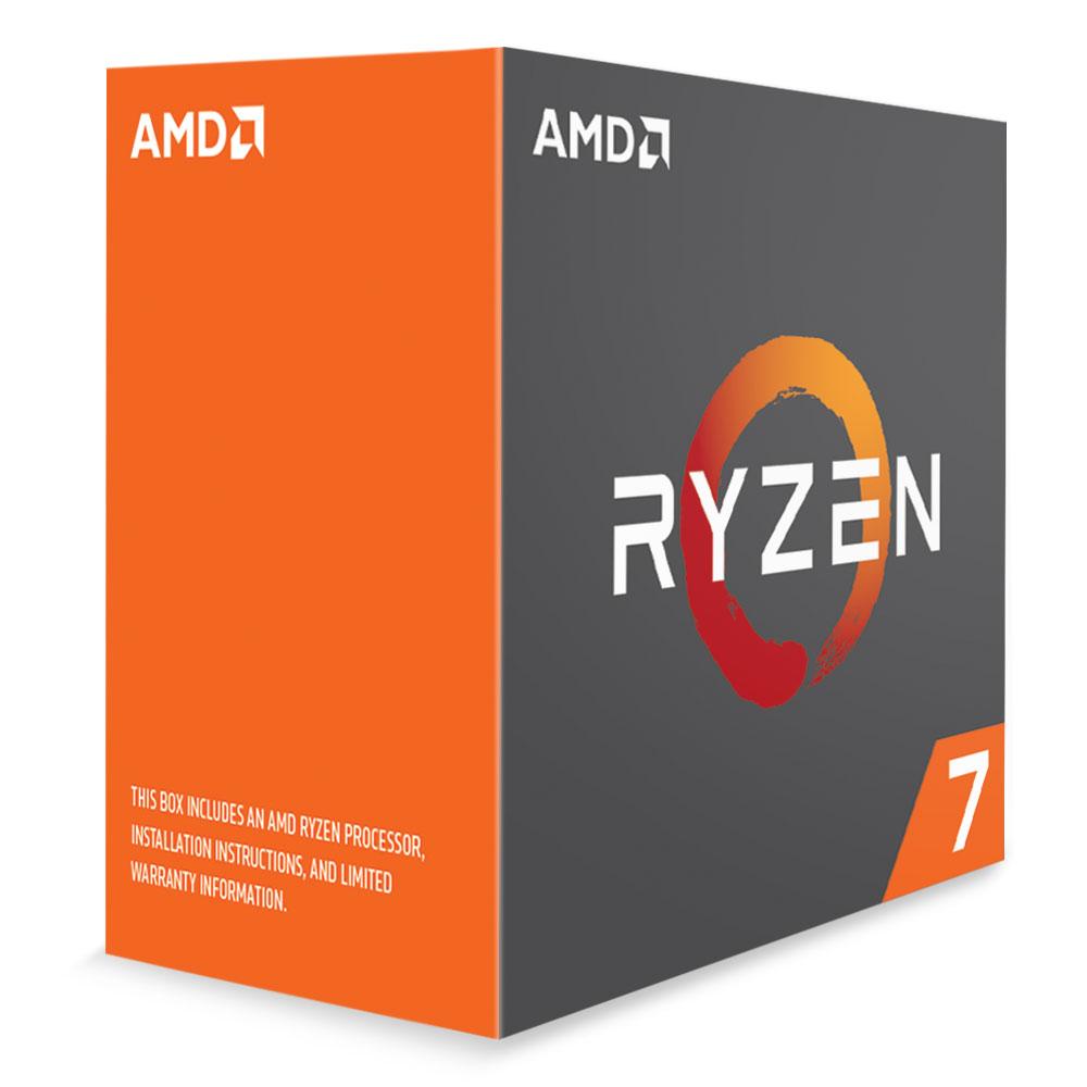 Processeur AMD Ryzen 7 1800X (3.6 GHz) Processeur 8-Core socket AM4 Cache L3 16 Mo 0.014 micron TDP 95W (version boîte/sans ventilateur - garantie constructeur 3 ans)