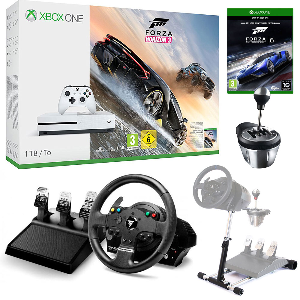 microsoft xbox one s 1 to simracing pack bundle achat vente console xbox one sur. Black Bedroom Furniture Sets. Home Design Ideas