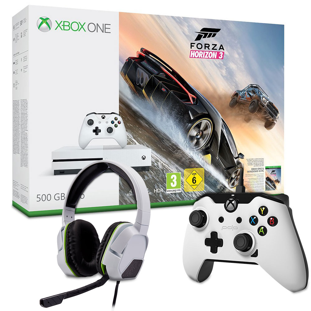microsoft xbox one s 500 go forza horizon 3 2 accessoires offerts bundle achat. Black Bedroom Furniture Sets. Home Design Ideas