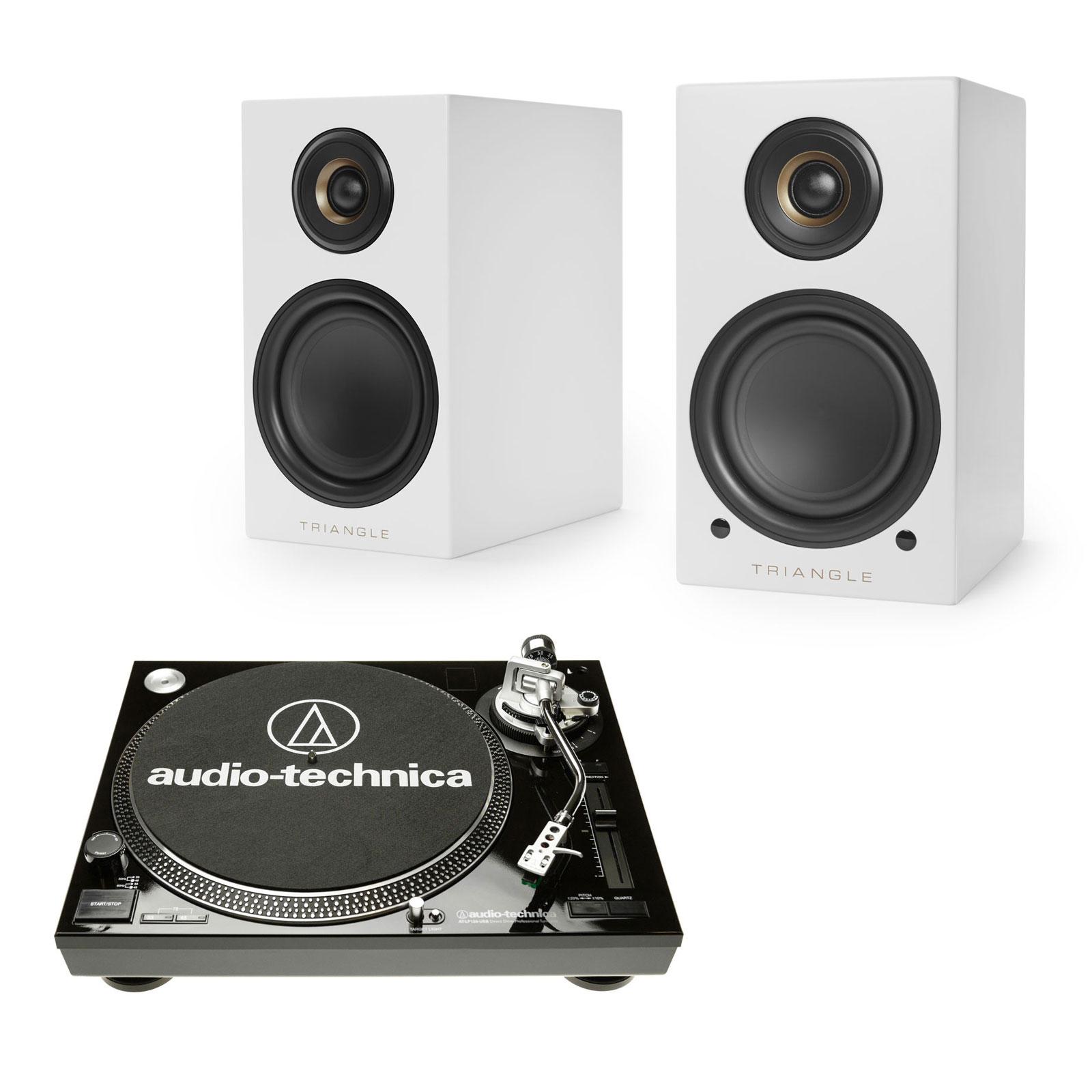 audio technica at lp120usbc noir triangle elara ln01a. Black Bedroom Furniture Sets. Home Design Ideas
