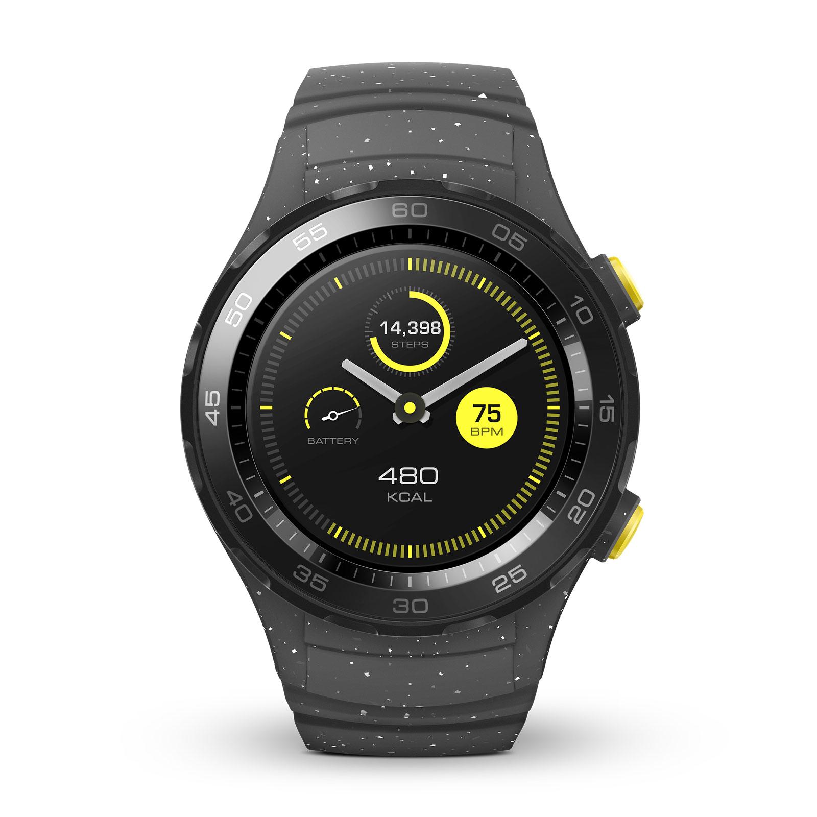 huawei watch 2 sport gris montre bracelets connect s. Black Bedroom Furniture Sets. Home Design Ideas