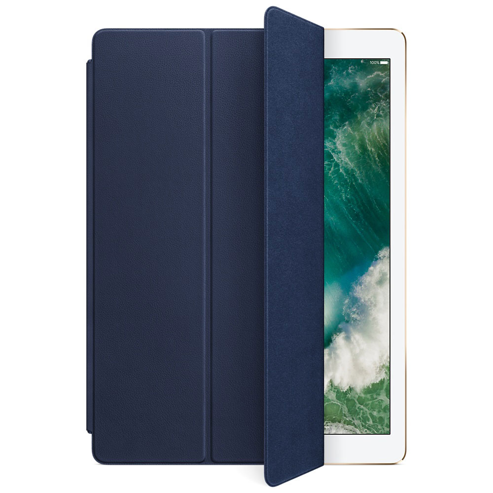 apple ipad pro 12 9 smart cover cuir bleu nuit. Black Bedroom Furniture Sets. Home Design Ideas