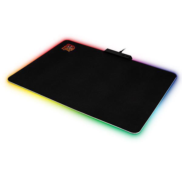 Tapis de souris Tt eSPORTS by Thermaltake DRACONEM RGB - Cloth Edition Tapis de souris avec rétro-éclairage multicolore personnalisable pour gamer