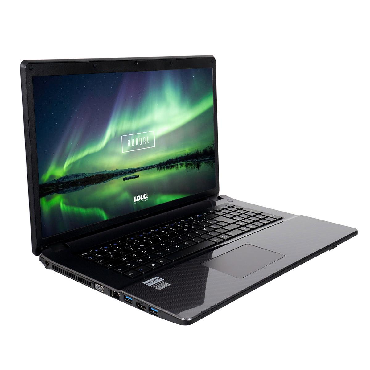 "PC portable LDLC Aurore CI5P-16-S2H20 Intel Core i5-6300HQ 16 Go SSD 240 Go + HDD 2 To 17.3"" LED Full HD Graveur DVD Wi-Fi N/Bluetooth Webcam (sans OS)"