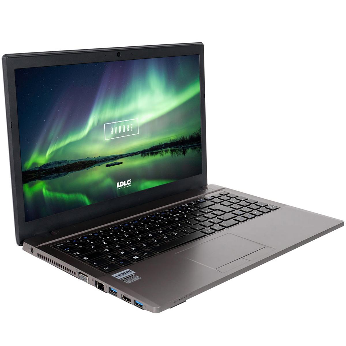 "PC portable LDLC Aurore Ti5P-8-S5 Intel Core i5-6300HQ 8 Go SSD 480 Go 15.6"" LED Full HD Graveur DVD Wi-Fi N/Bluetooth Webcam (sans OS)"
