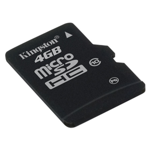Carte mémoire Kingston microSDHC 4 Go - Class 10 Kingston microSDHC 4 Go - Class 10 (garantie à vie par Kingston)