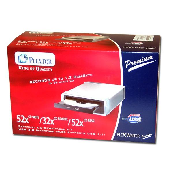 Lecteur graveur Plextor PlexWriter Premium-U 52/32/52 USB 2.0 (boîte) Plextor PlexWriter Premium-U 52/32/52 USB 2.0 (boîte)