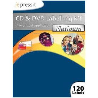 Etiquette, jacquette Pressit CD & DVD Labelling Kit Platinium Pressit CD & DVD Labelling Kit Platinium