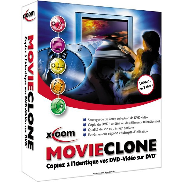 Logiciel gravure X-OOM MovieClone (français, WINDOWS) X-OOM MovieClone (français, WINDOWS)