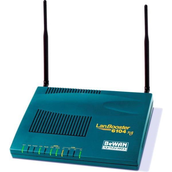 Modem & routeur BeWAN LanBooster 6104 xg BeWAN LanBooster 6104 xg - Modem-routeur ADSL sans fil 54 Mbps + serveur VPN IPSec 16 tunnels