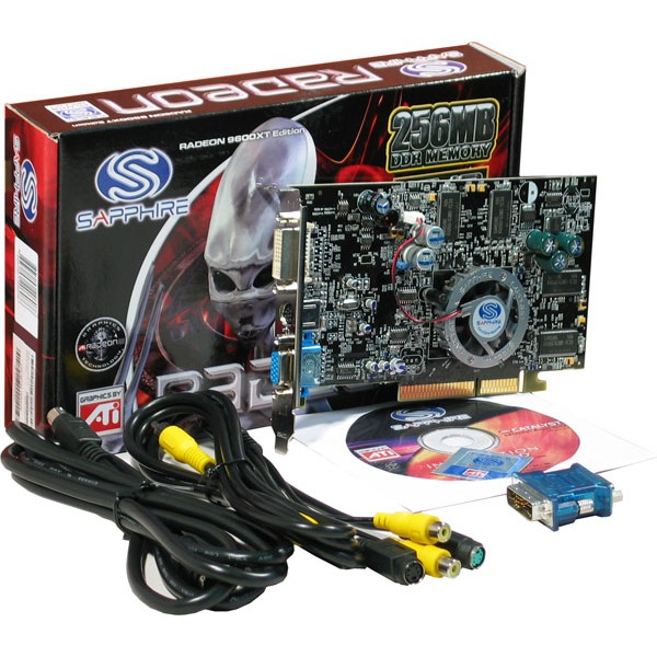 Carte graphique Sapphire Atlantis Radeon 9600XT 256 Mo VIVO (lite retail) (Ati Radeon 9600 XT) Sapphire Atlantis Radeon 9600XT 256 Mo VIVO (lite retail) (Ati Radeon 9600 XT)