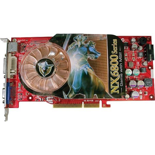 Carte graphique MSI NX6800-TD128 - 128 Mo TV-Out/DVI (NVIDIA GeForce 6800) MSI NX6800-TD128 - 128 Mo TV-Out/DVI (NVIDIA GeForce 6800)