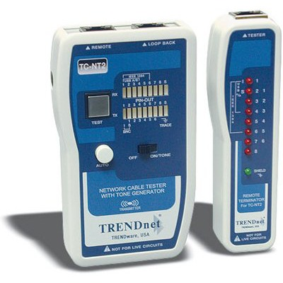 Appareil de mesure TRENDnet TC-NT2 Testeur Professionnel pour Câble de réseaux avec génératrice audio