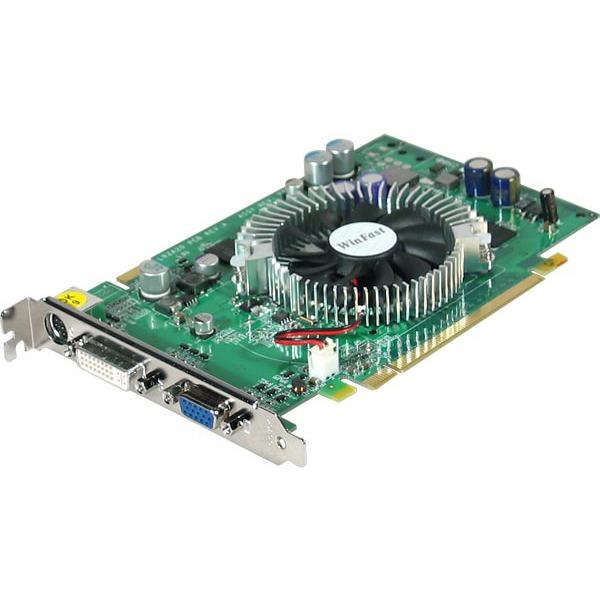 Carte graphique Leadtek WinFast 6600GT TDH - 128 Mo DDR3 TV-Out/DVI - PCI Express Leadtek WinFast 6600GT TDH - 128 Mo DDR3 TV-Out/DVI - PCI Express (NVIDIA GeForce 6600GT)