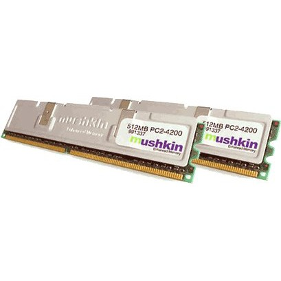 Mémoire PC Mushkin 1 Go (2x 512 Mo) DDR2-SDRAM PC4200 Mushkin 1 Go (2x 512 Mo) DDR2-SDRAM PC4200