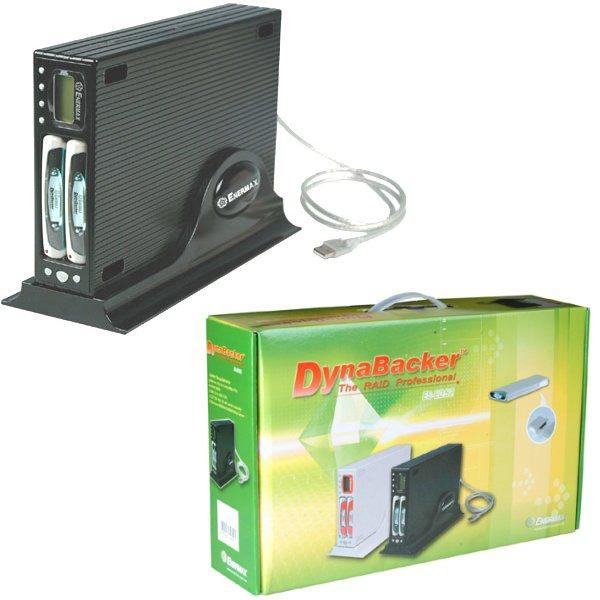 Boîtier disque dur Enermax ES-E252 Enermax ES-E252 - Boîtier RAID (2 emplacements pour disque dur 2 pouces 1/2) Externe USB 2.0/FireWire 400 - Coloris Noir