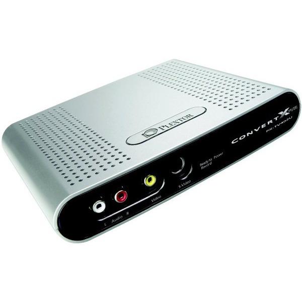 Carte d'acquisition Plextor ConvertX PVR PX-TV402U - Convertisseur vidéo MPEG-1/2/4 + Tuner TV intégré (USB 2.0) Plextor ConvertX PVR PX-TV402U - Convertisseur vidéo MPEG-1/2/4 + Tuner TV intégré (USB 2.0)