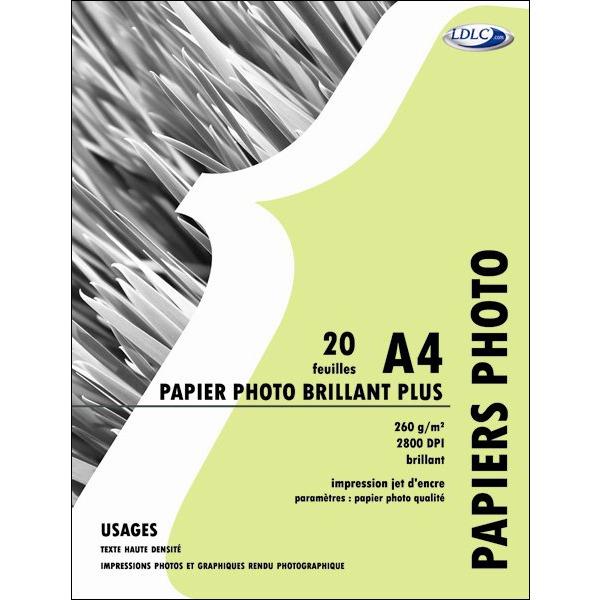 ldlc papier photo brillant plus p5080 a4 20 achat vente papier imprimante sur. Black Bedroom Furniture Sets. Home Design Ideas