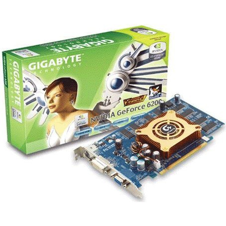 Carte graphique Gigabyte GV-NX62128D - 128 Mo TV-Out/DVI - PCI Express (NVIDIA GeForce 6200) Gigabyte GV-NX62128D - 128 Mo TV-Out/DVI - PCI Express (NVIDIA GeForce 6200)