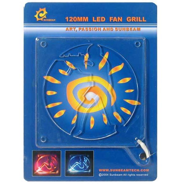 """Grille ventilateur PC Sunbeam grille à LED rouge """"Counter Strike"""" pour ventilateur 120 mm Sunbeam grille à LED rouge """"Counter Strike"""" pour ventilateur 120 mm"""