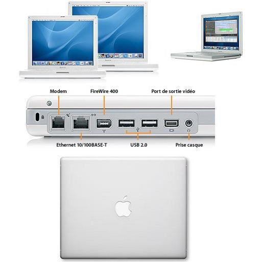 apple ibook g4 ghz 256 mo 60 go 14 1 tft dvd cd rw wi fi g mac os x panther macbook. Black Bedroom Furniture Sets. Home Design Ideas