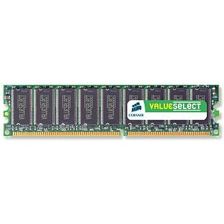 Mémoire PC Corsair Value Select 1 Go DDR 400 MHz CL3 RAM DDR PC3200 - VS1GB400C3 (garantie 10 ans par Corsair)