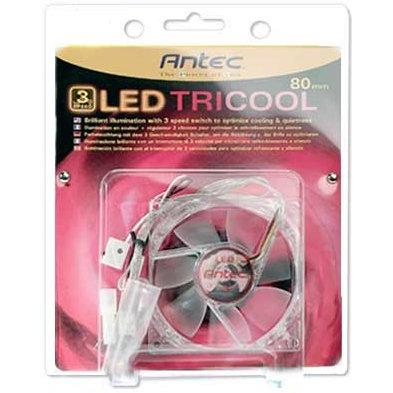 Ventilateur boîtier Antec TriCool 80 Red LED Ventilateur de boitier 80 mm à 3 vitesses avec LED rouge