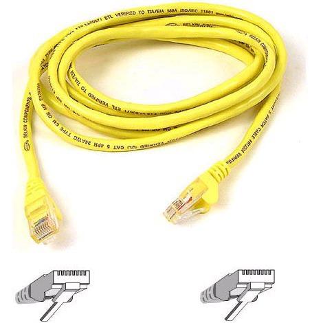 Câble RJ45 Belkin A3L791B05M-YLWS Câble RJ45 catégorie 5e UTP 5 m (Jaune)