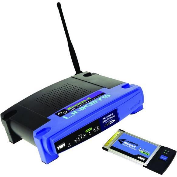 Modem & routeur Linksys WGKPC54G Linksys WGKPC54G - Kit modem routeur ADSL2/2+ sans fil G pour PC portable (routeur + carte PCMCIA)