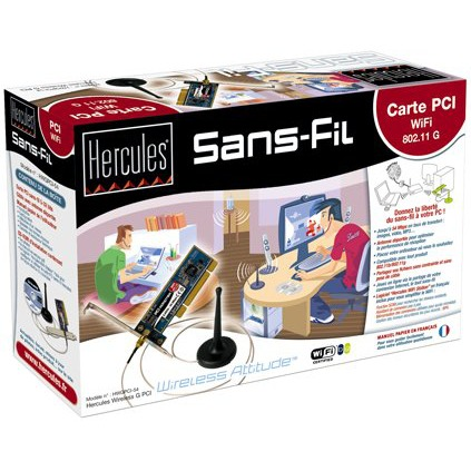 Carte réseau Hercules Carte PCI Wi-Fi 54 Mbps Hercules Carte PCI Wi-Fi 54 Mbps
