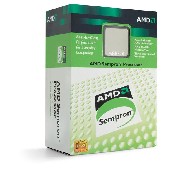 Processeur AMD Sempron 3000+ AMD Sempron 3000+ Support 64 bits (boîte) socket 754